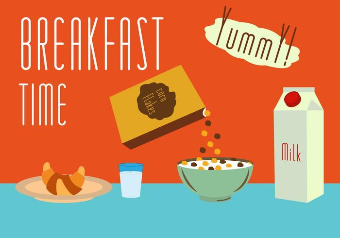 Set of Meals for Breakfast in Vector
