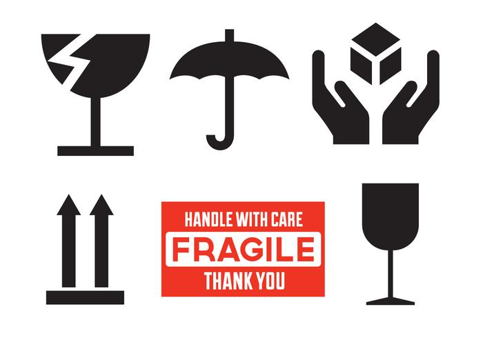 vector fagile signs