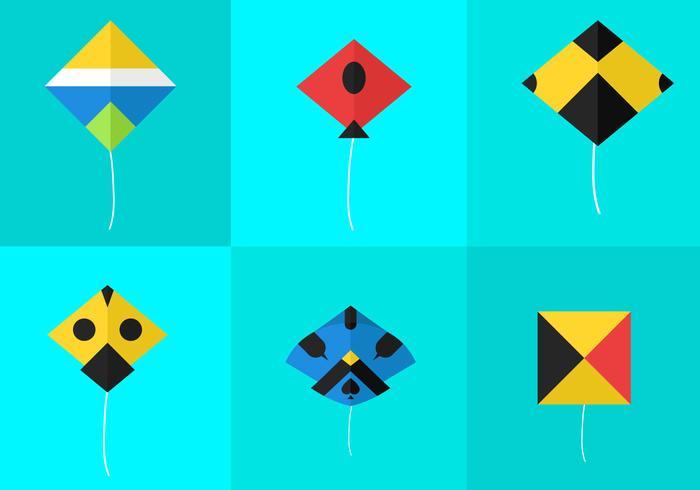 Basen Kite Vektoren