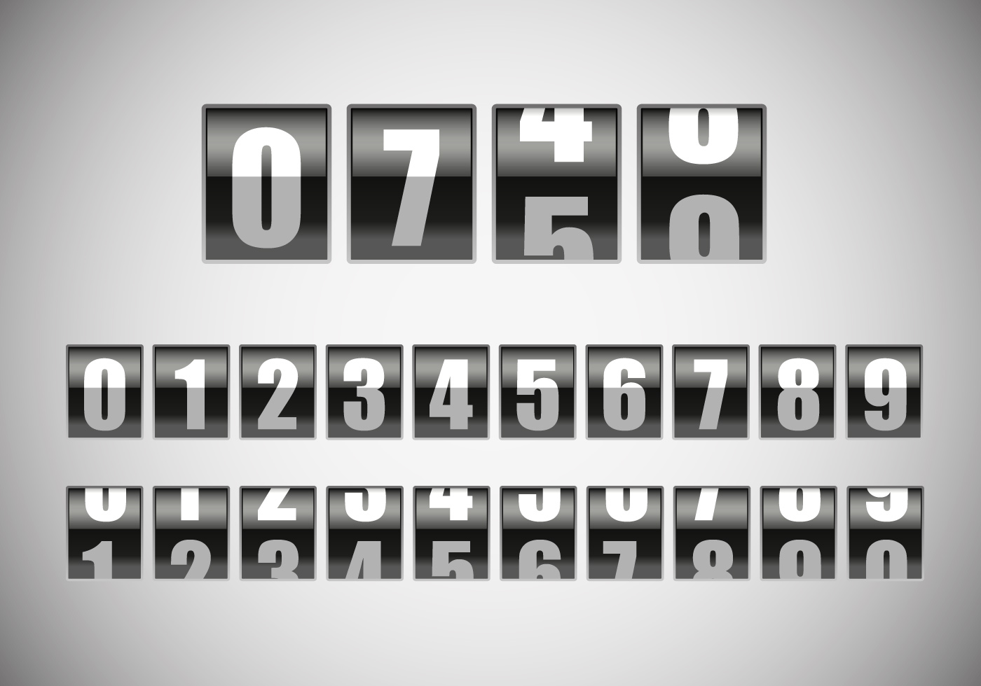 free counter with number vector