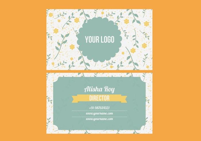 Trendy Colorful Business Card Vector