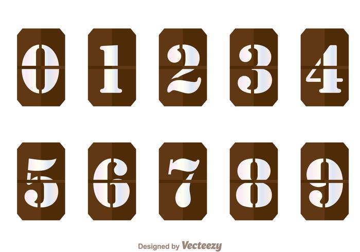 Brown Number Counter Vectors