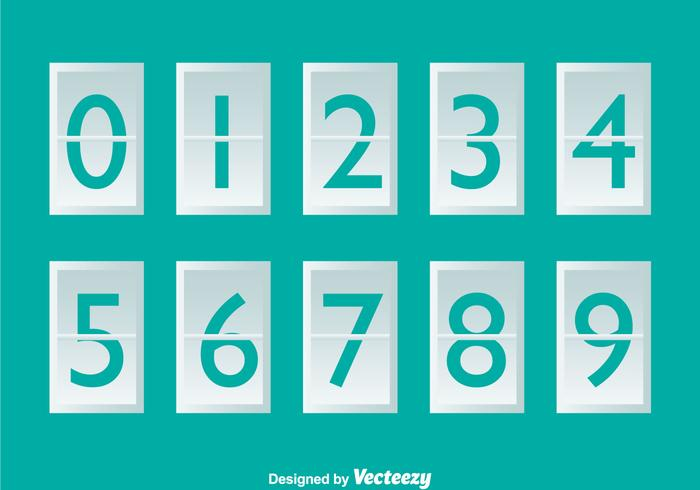 White Number Counter On Turquoise