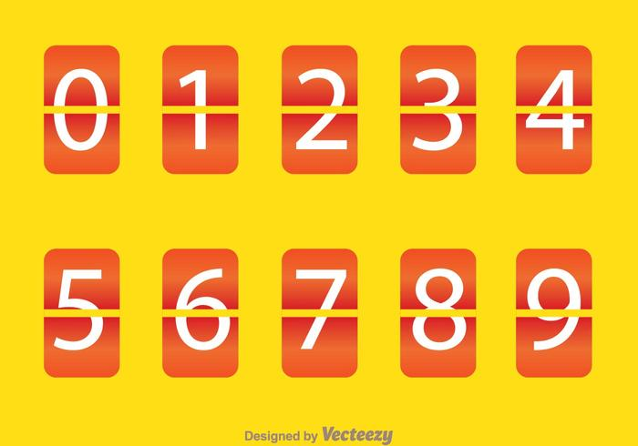 Orange Round Square Number Counter Download Free Vector Art Stock