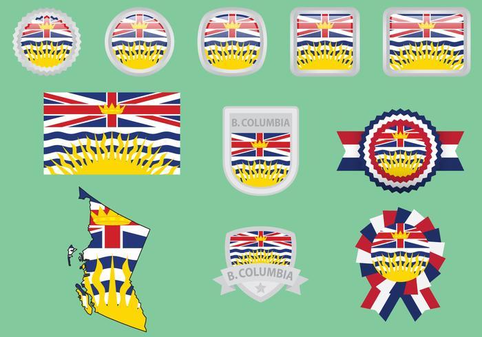 Bandiere della British Columbia vettore