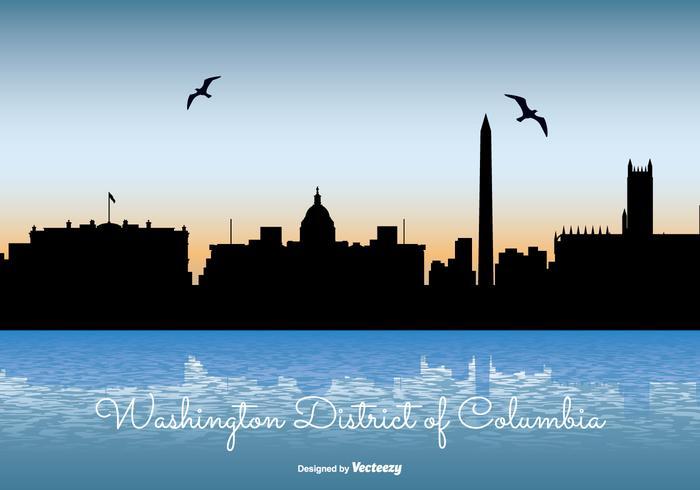 Washinton District of Columbia Skyline Illustration