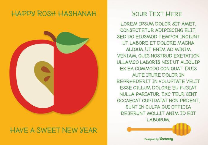 Rosh Hashanah Greeting Illustration