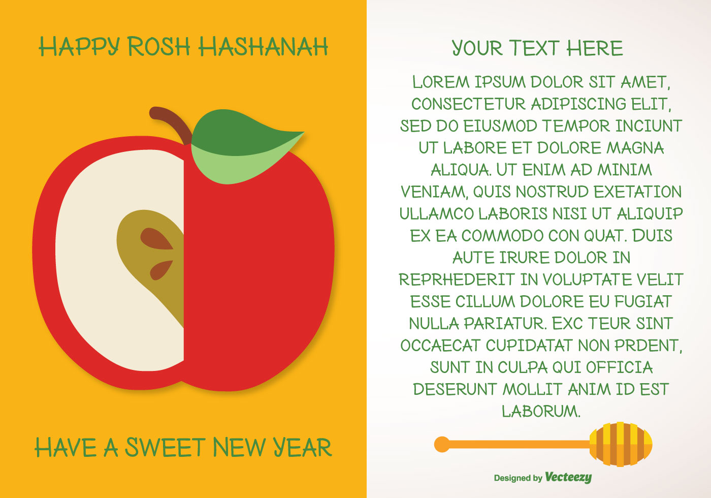 Rosh Hashanah Greeting Illustration Download Free Vector Art