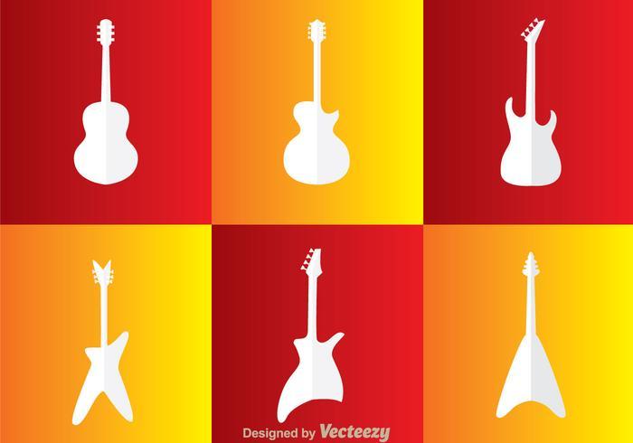 Guitar White Icons