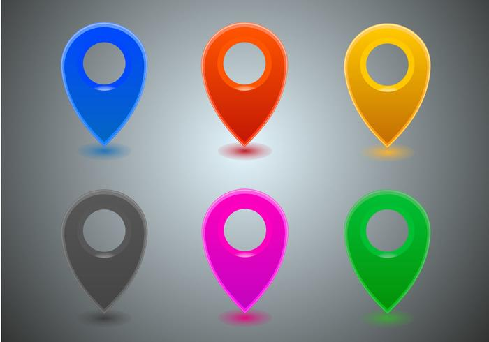 Free Map Icons Vector