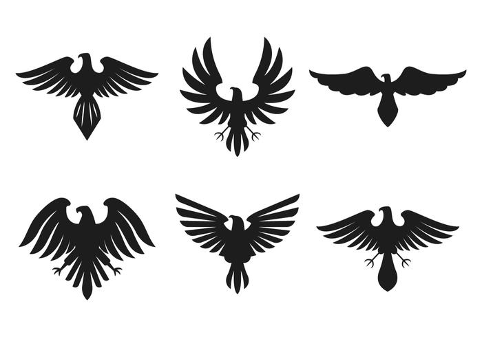 Ancient Hawk Logo Vector - Download Free Vector Art, Stock Graphics ... Eagle Silhouette Vector