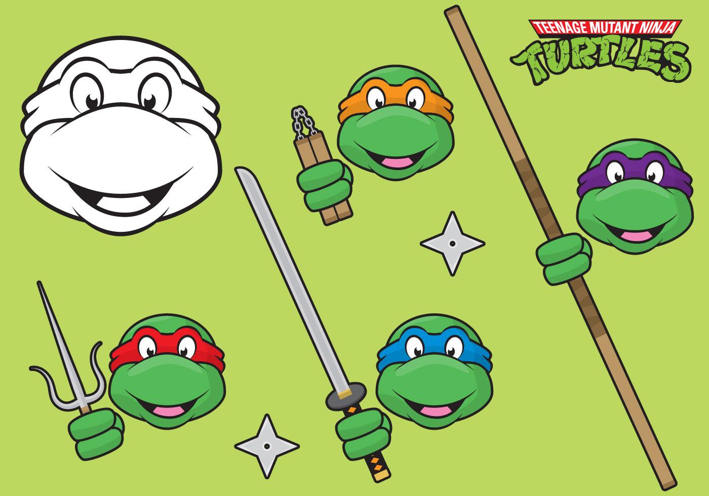 Tartarugas Ninjas Download Vetores Gratis Desenhos De Vetor