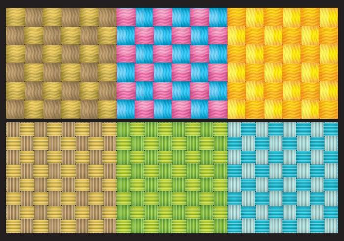 Colorful Wicker Texture Vectors