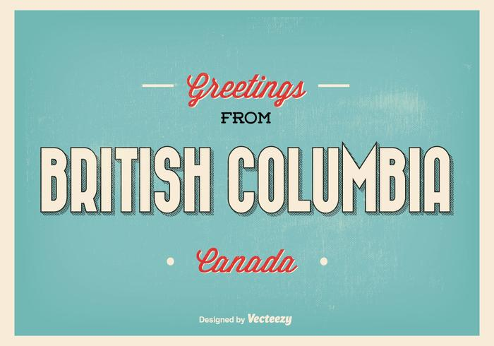 British Columbia Typographic Greeting Illustration