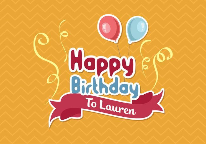 Happy Birthday Background Vector Download Free Vector