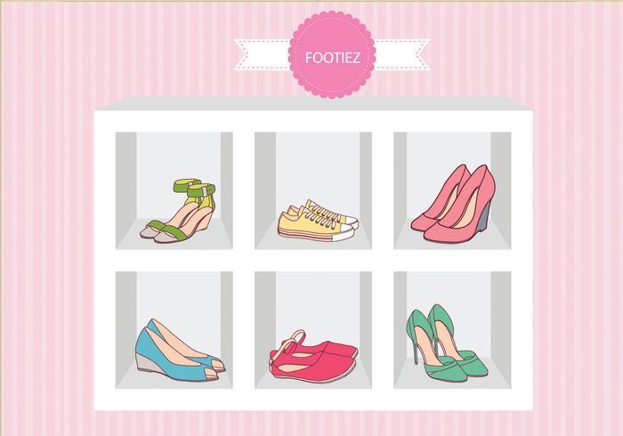 Moda Zapatos Sandal Caso Vector
