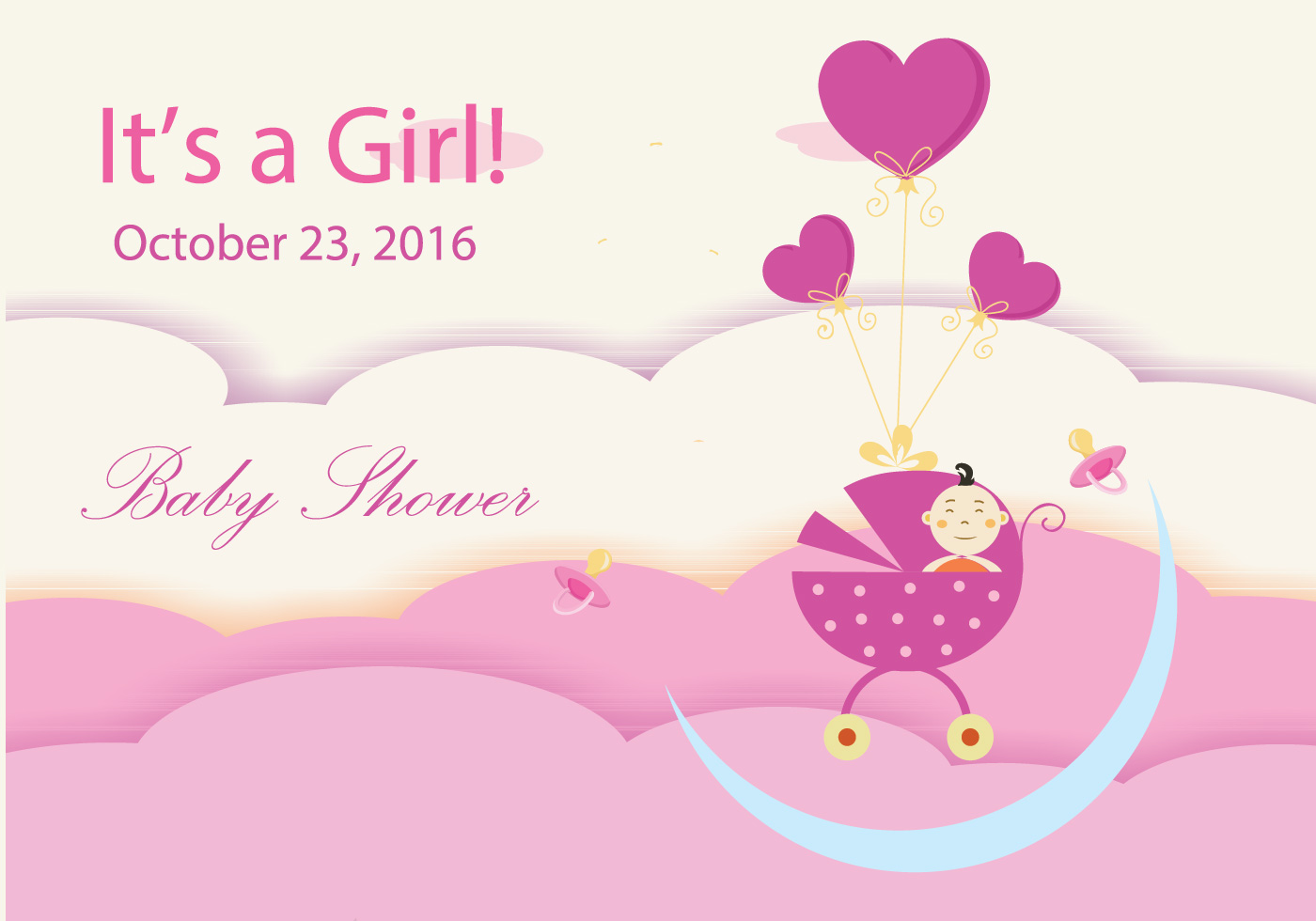 Baby Shower Design Download Free Vector Art Stock