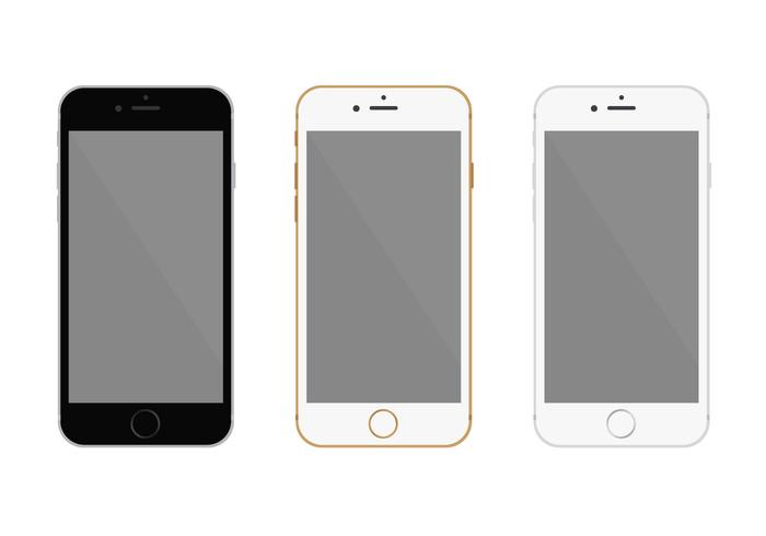 Free Flat Iphone 6 Vector