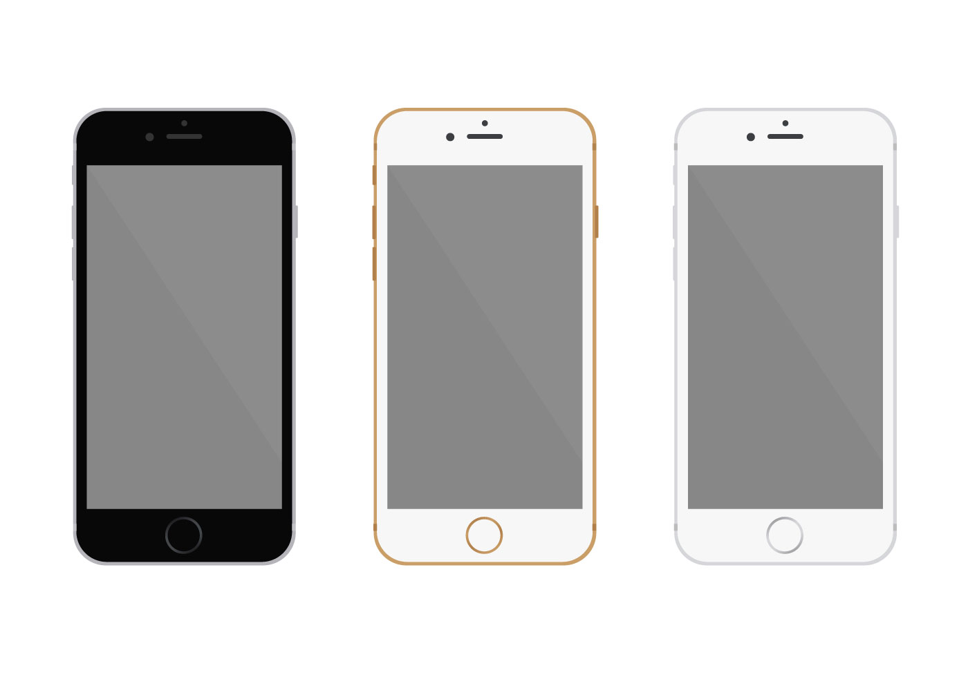 free flat iphone 6 vector   download free vector art
