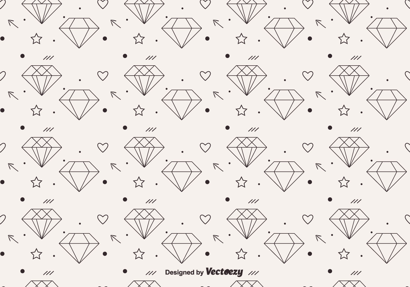 Free Vector Diamond Pattern