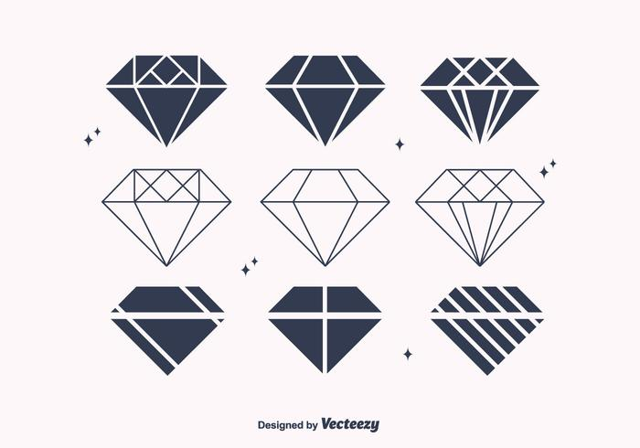 Free Flat Diamond Vectors