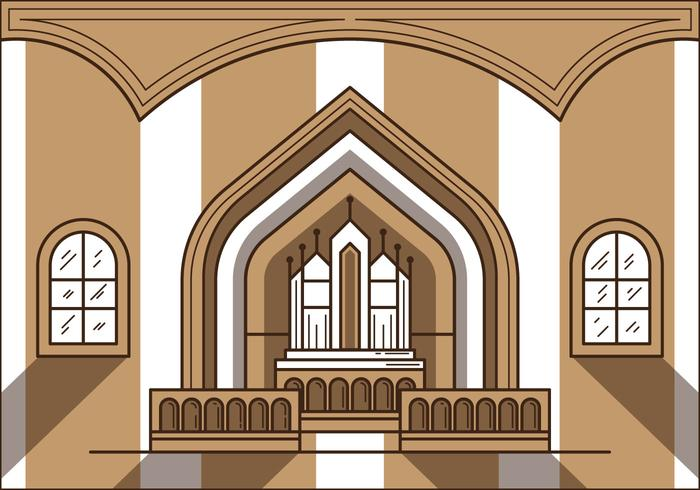 Free Church Altar Illustration