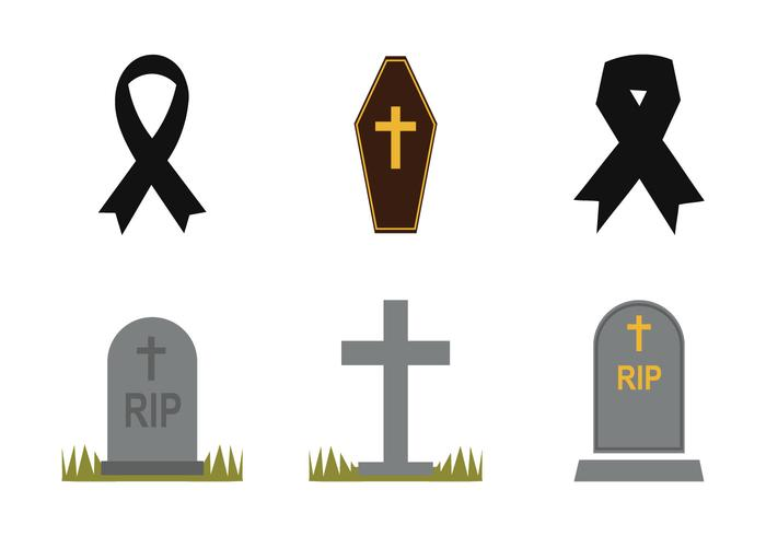 Free Mourning Vector Icon Set