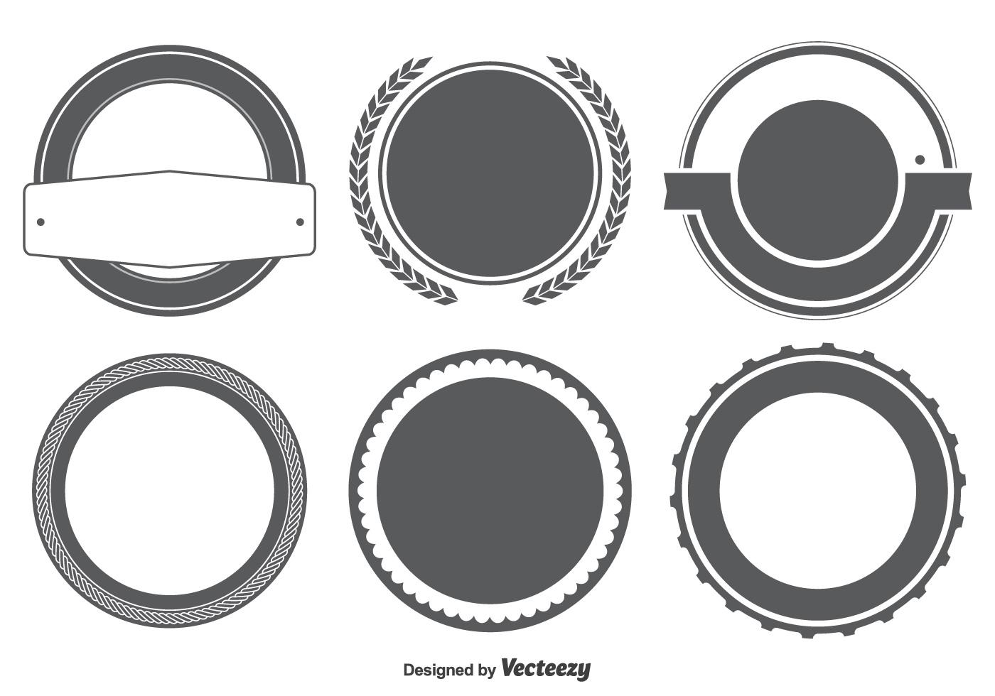 Blank Badge / Labels Shape Set