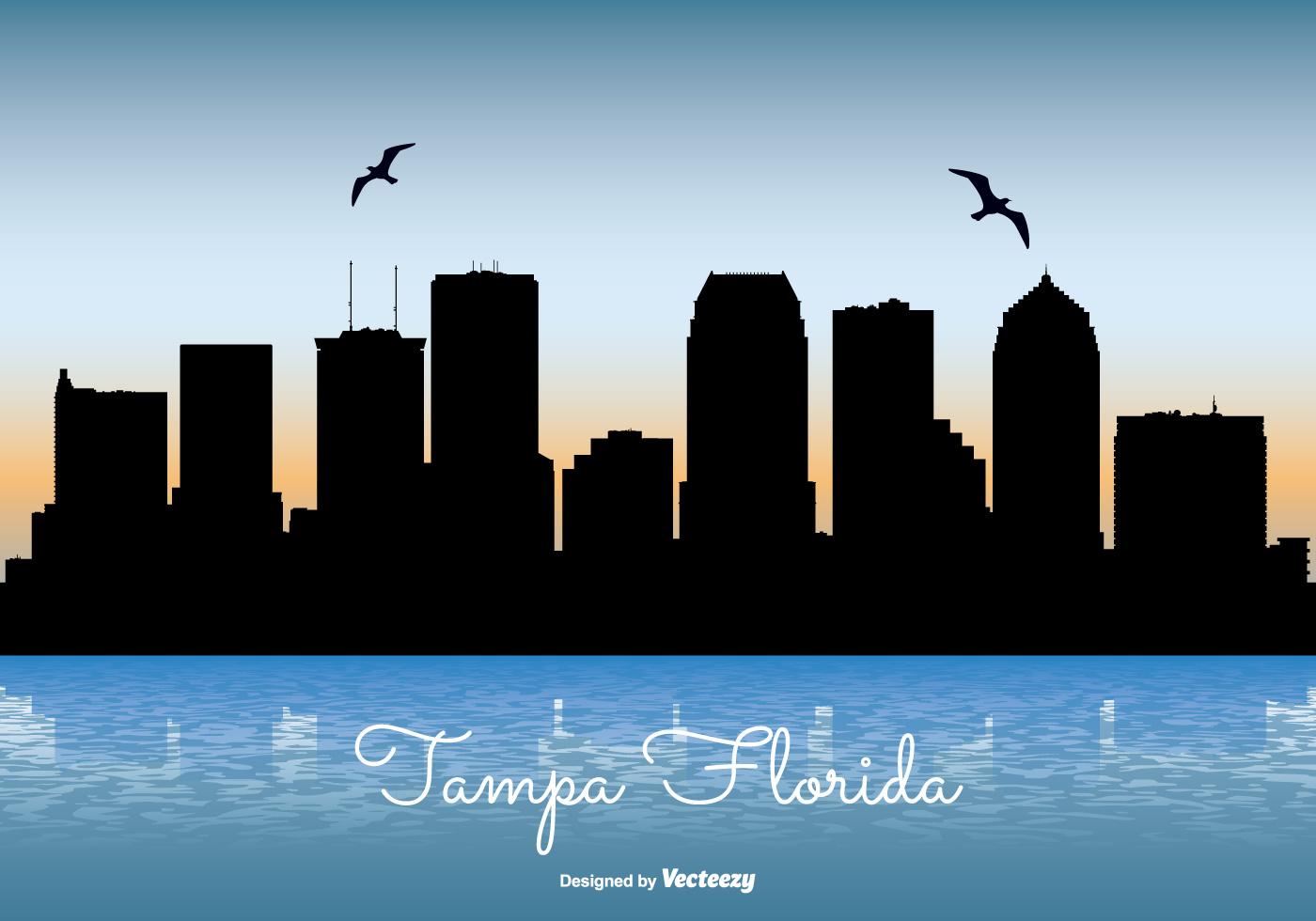 Tampa Florida Skyline Illustration