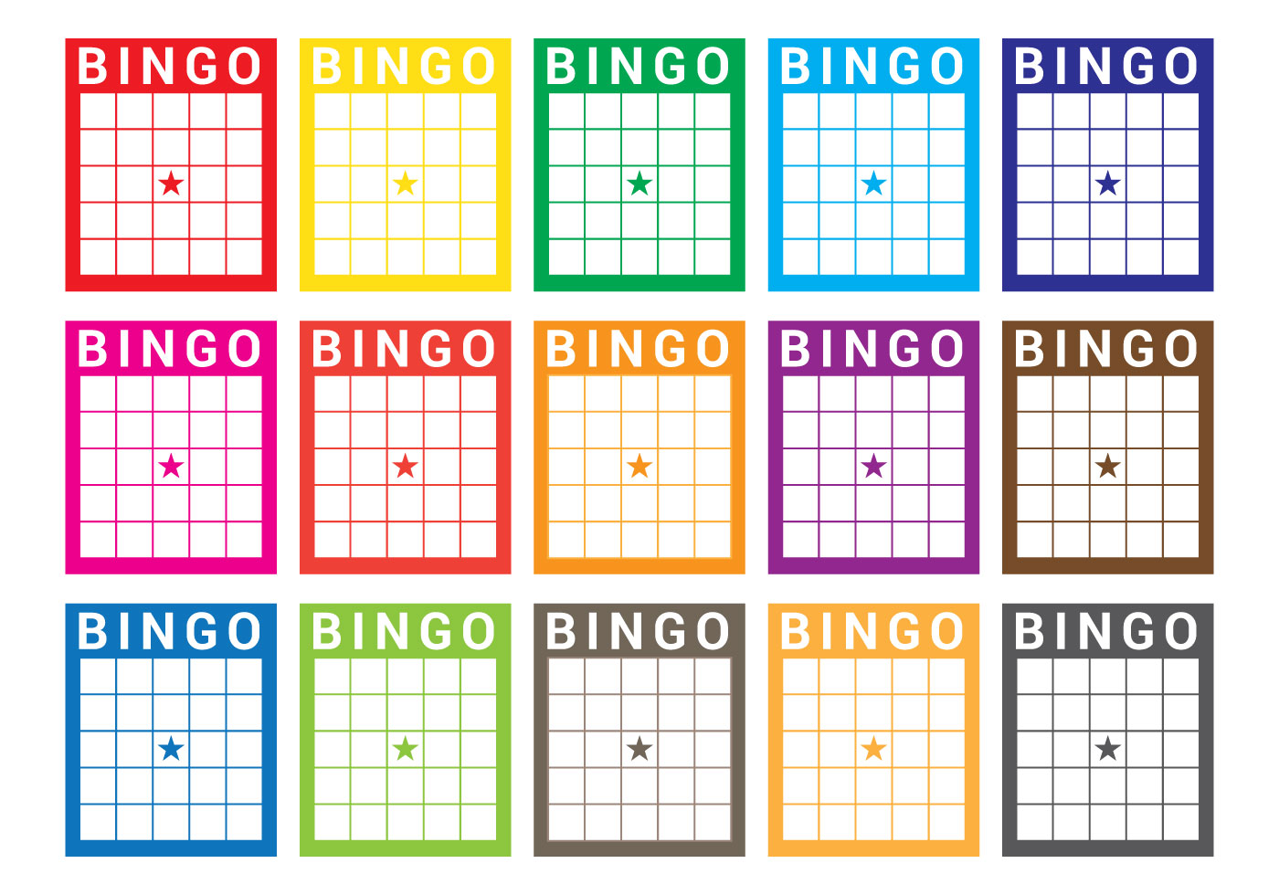 Bingo Card Vector Download Free Vector Art Stock
