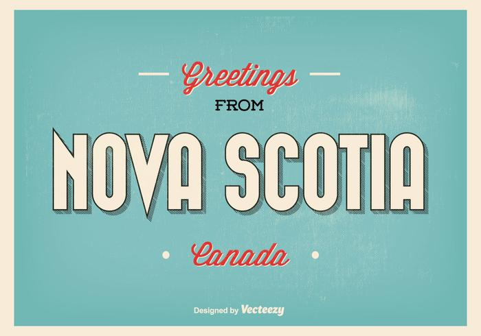Nova Scotia Greetings Illustration