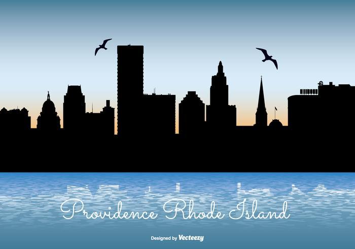Providence Rhode Island Skyline Illustration