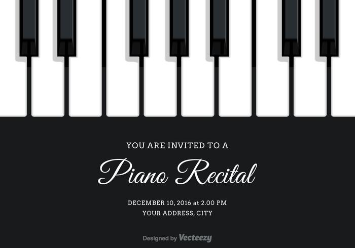 Gratis Vector Piano Recital Invitation