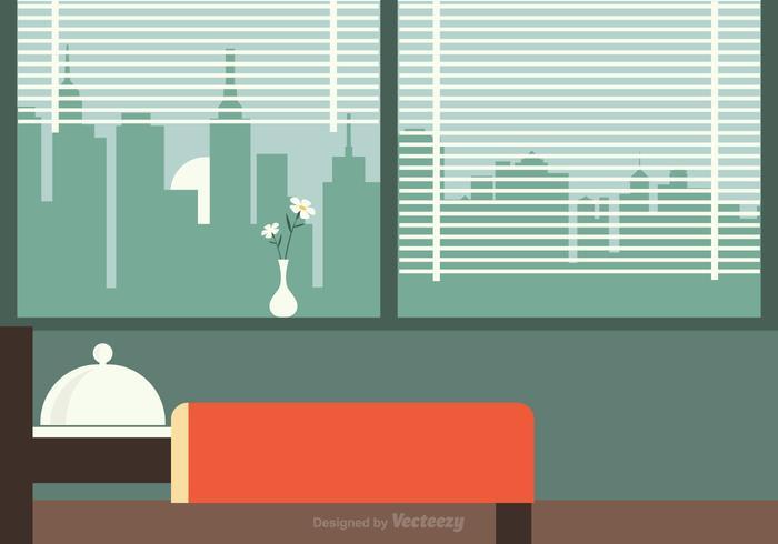 Petit déjeuner gratuit dans l'illustration vectorielle du lit