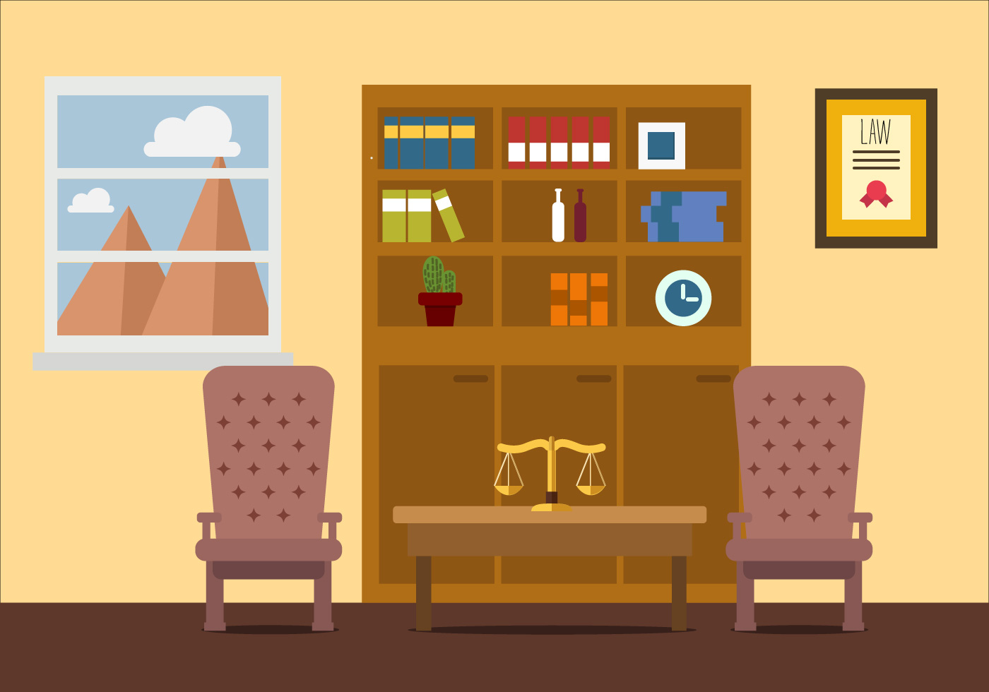 Law Office Vector Resource Download Free Vector Art