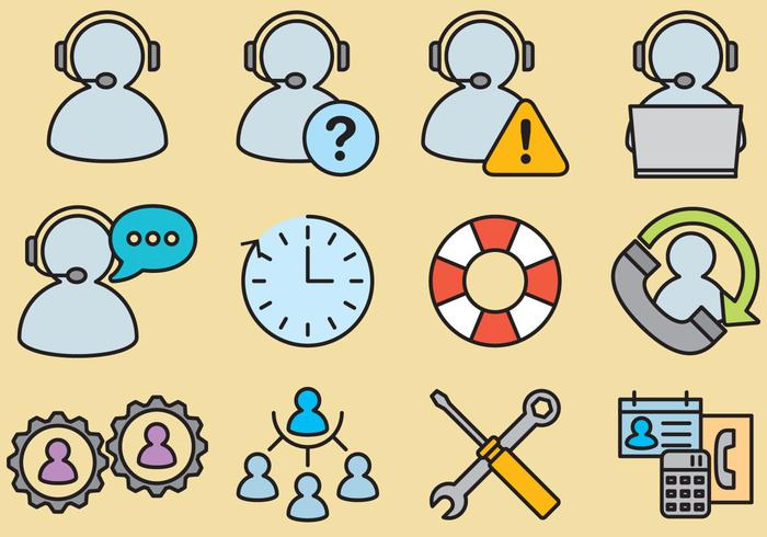 Administrative Assistant Vector Icons