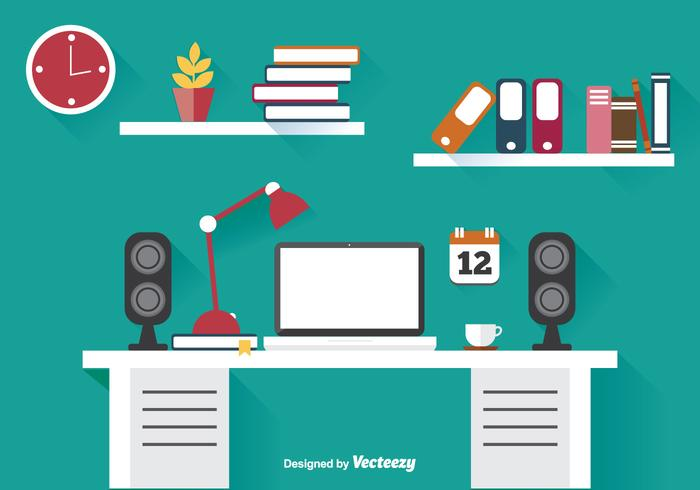 office illustration here is an awesome and trendy flat style office