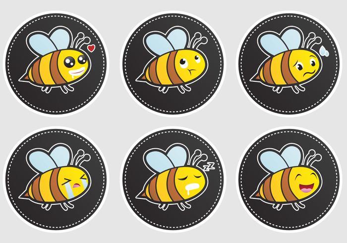 Ausdrucksvolle Bienenvektoren vektor