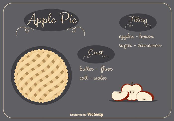 Apple Pie Vector Background
