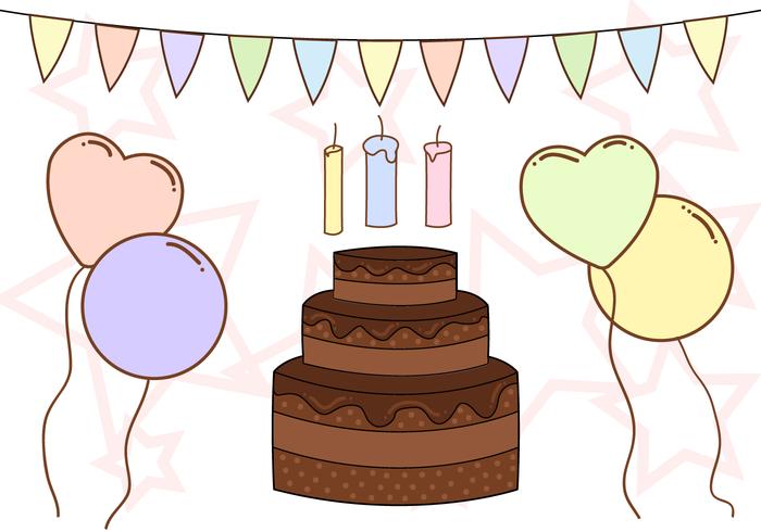 Free Birthday Anniversary Vector
