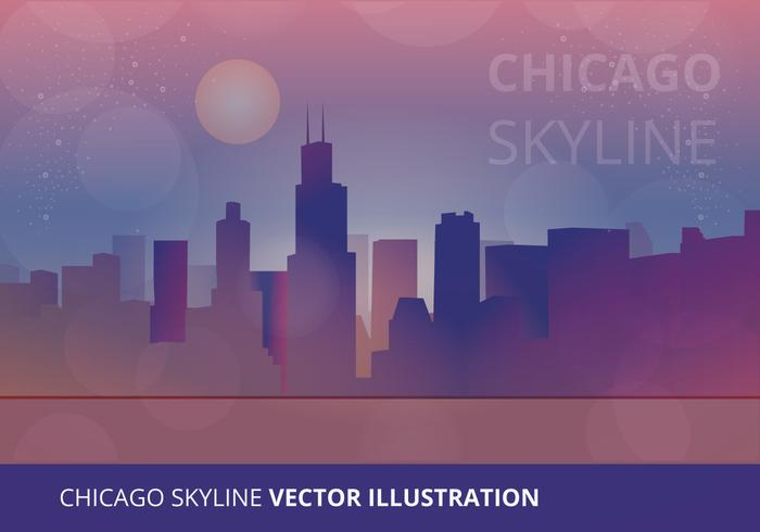 Chicago skyline vektor illustration