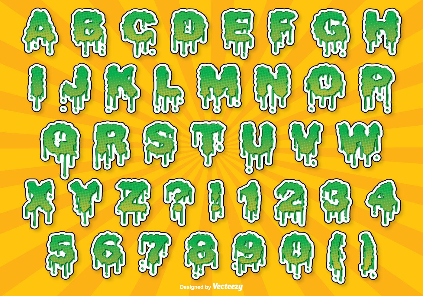 Halloween Alphabet Set - Download Free Vectors, Clipart ...