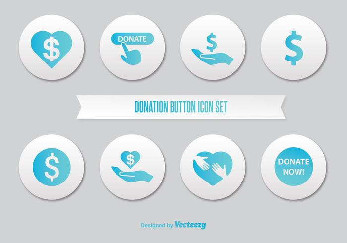 Spenden Button Icon Set