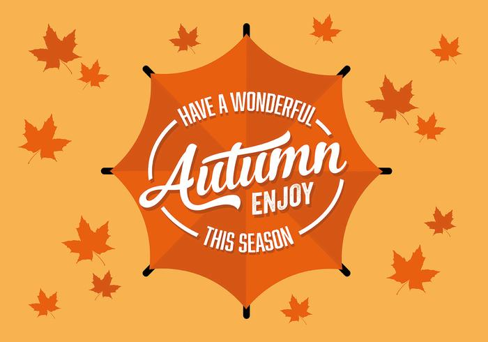 Free Flat Autumn Season Vector Background