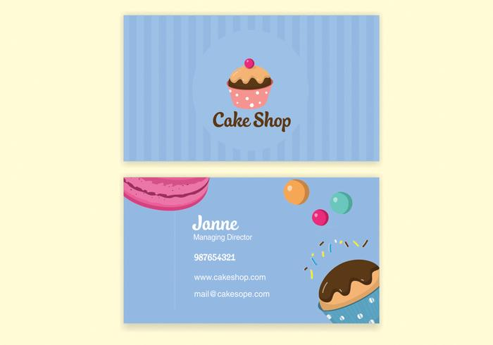 Blue bake shop business card vector download free vector art blue bake shop business card vector reheart Choice Image