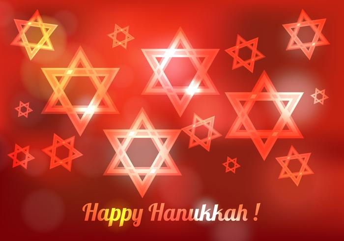 Free Hanukkah Blured Vector
