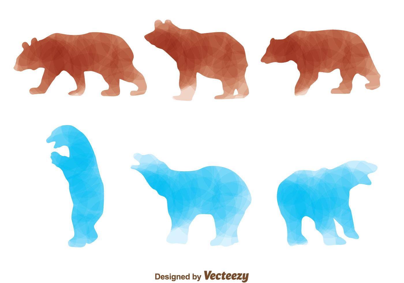 Brown Bear And Polar Bear Download Free Vector Art