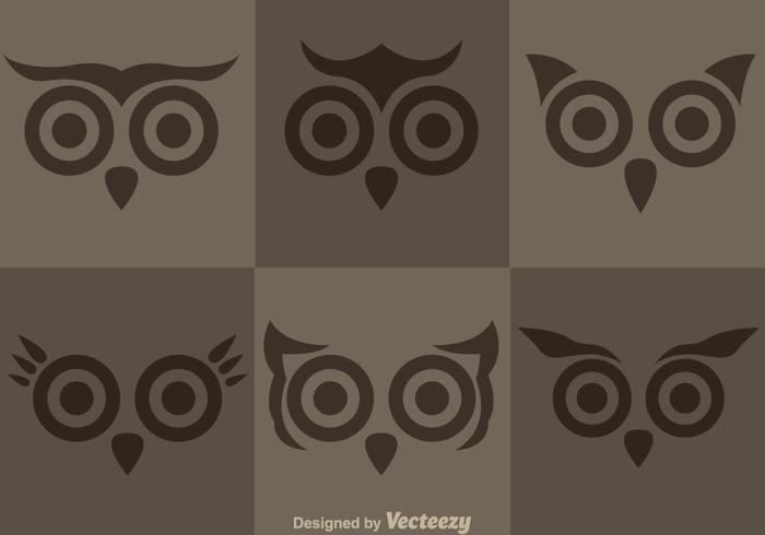 Uggla ansikte vektorer