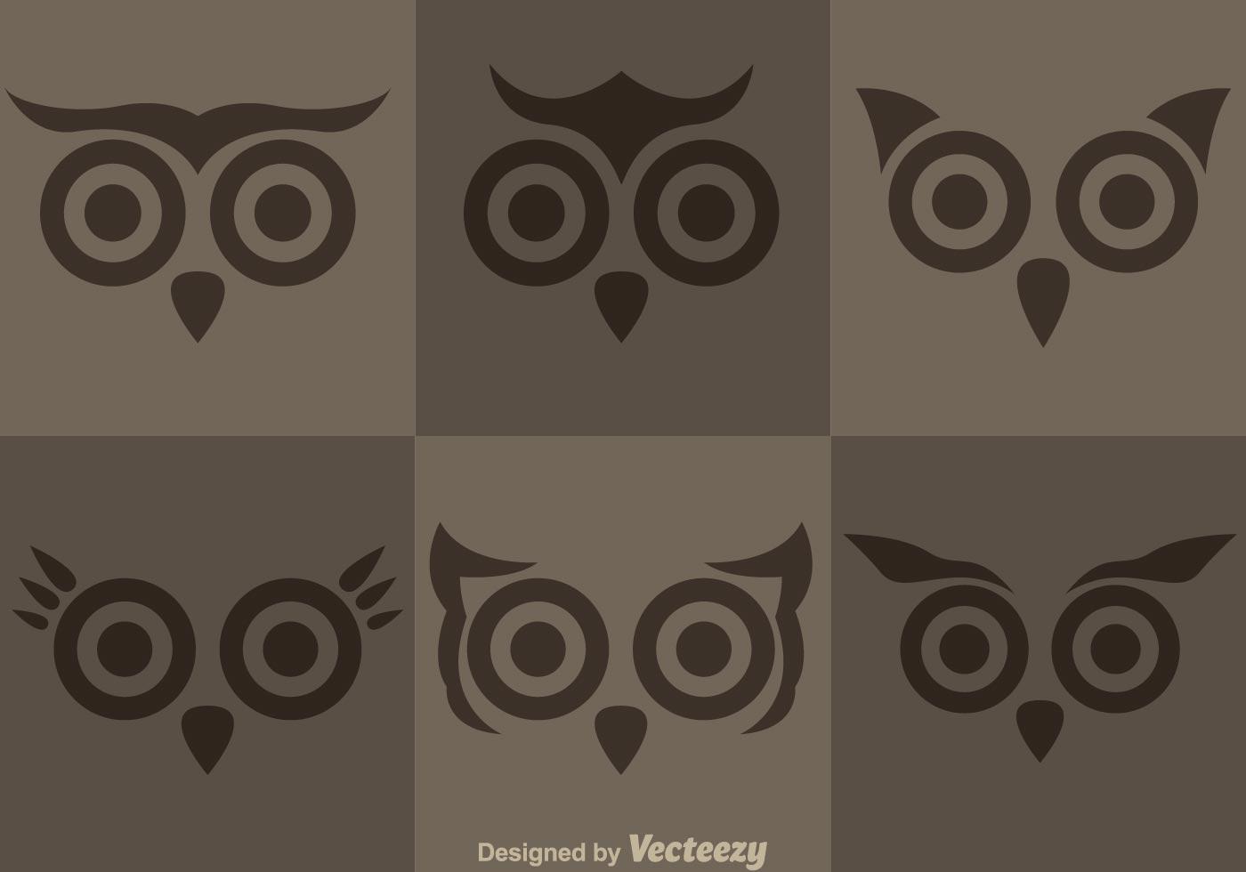 Owl Face Vectors Download Free Vectors Clipart Graphics
