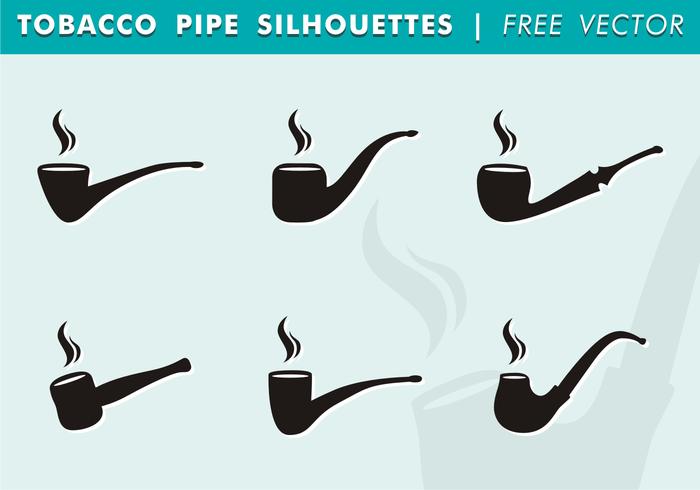 Silhouettes de pipe de tabac vecteur libre